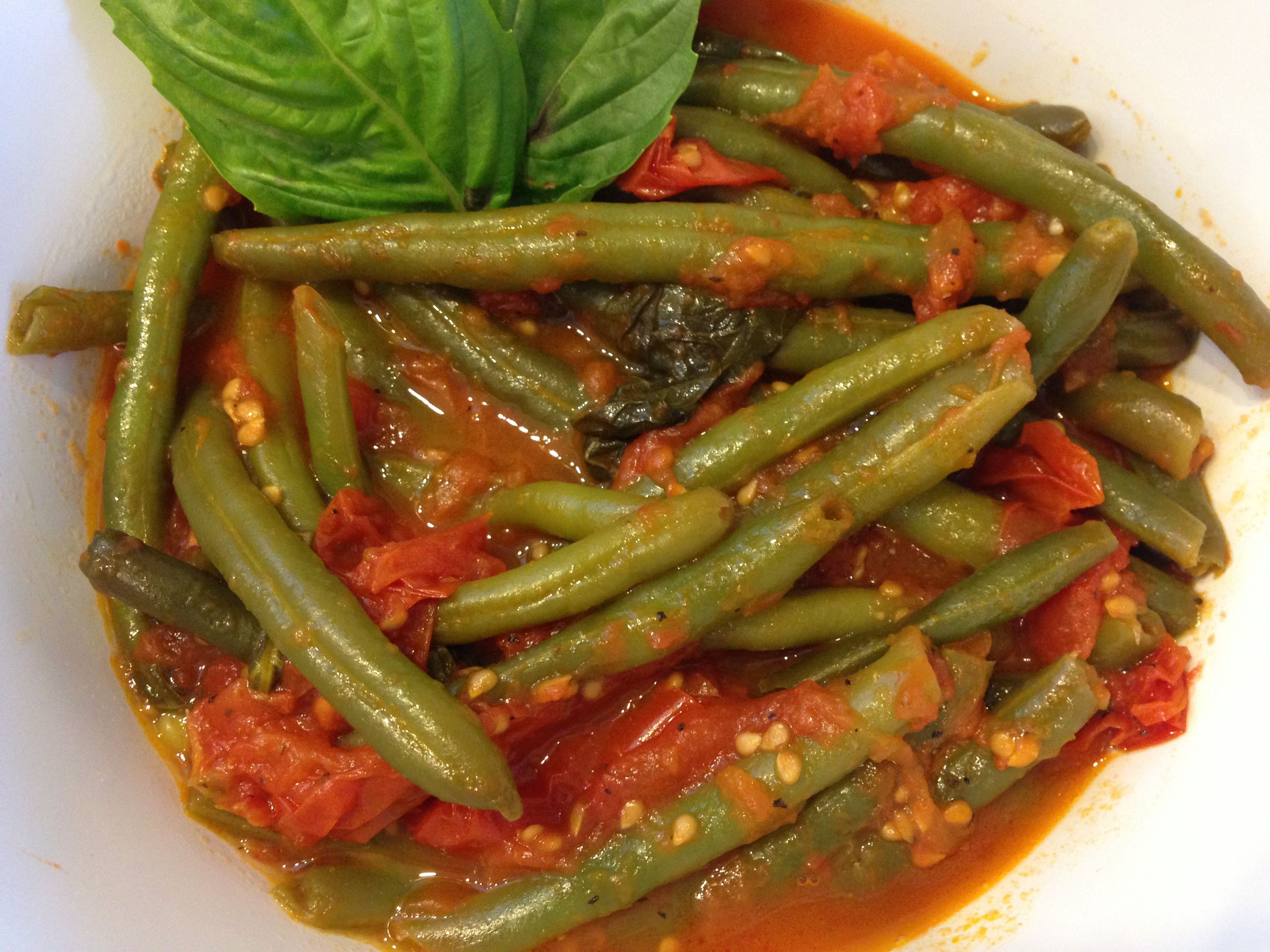 Sauteed Green Beans with Fresh Tomatoes | Cucina Mia